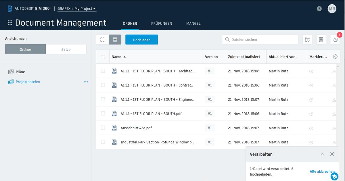 Integration von Studio-Sitzungen in Autodesk BIM 360 Docs | Blog